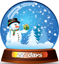 Snowman Snow Globe with falling snow :)